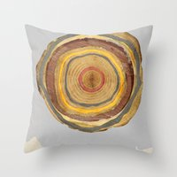 tree rings Throw Pillows featuring Tree Rings by Rachael Shankman