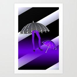 just a little walk - violet Art Print