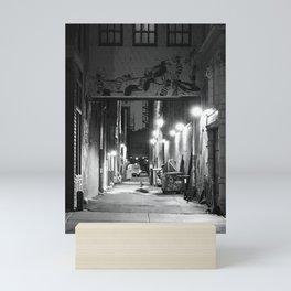 Lights, Alley, Art Mini Art Print