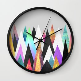 Colorful Peaks Wall Clock