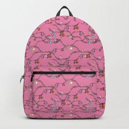 Holiday cheer hot pink Backpack