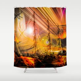 Romance of sailing Shower Curtain
