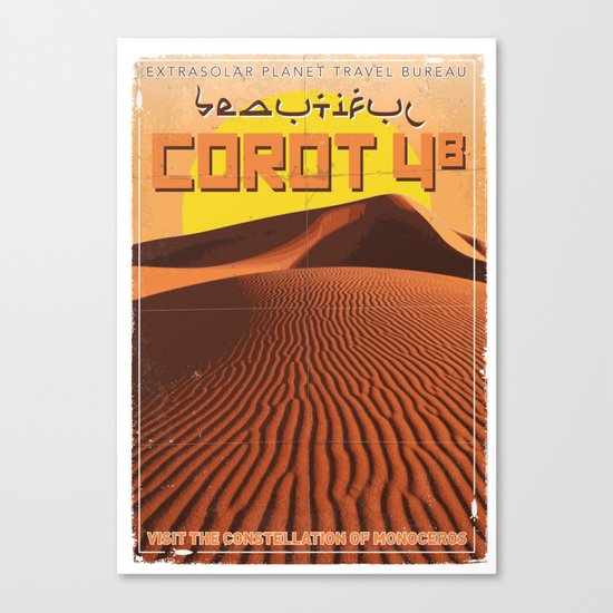 My Exoplanetary Travel Poster: COROT 4b Canvas Print