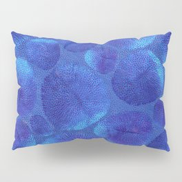 Blue corals and polyps Pillow Sham