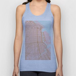 Buenos Aires map, Argentina Unisex Tank Top