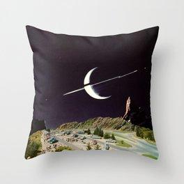 'Views of Saturn' Throw Pillow