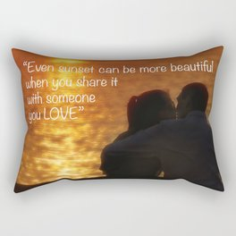 Love is in the air. Romantic sunset for two young lovers. Rectangular Pillow