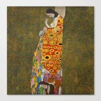 gustav klimt Canvas Prints featuring Gustav Klimt - Hope, II by TilenHrovatic