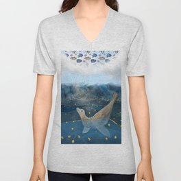 The Sea Lion's Dream - the race for food in warming oceans Unisex V-Neck