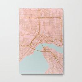 Jacksonville map, Florida Metal Print