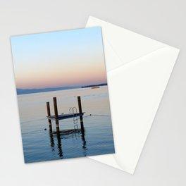 Pontoon on Lake Leman Stationery Cards