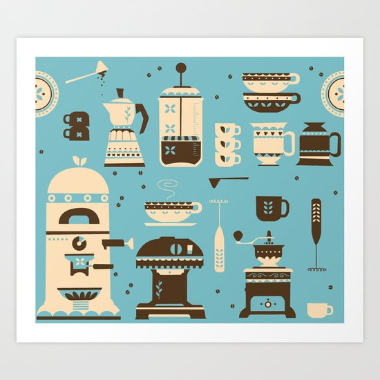 Coffee Paraphernalia   Art Print
