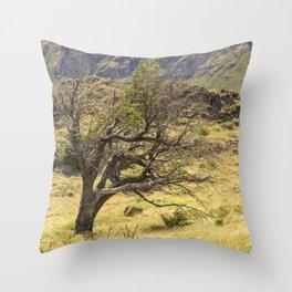Windy Tree Throw Pillow