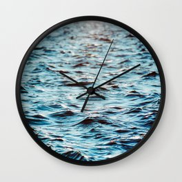 Turquoise ocean water texture Wall Clock