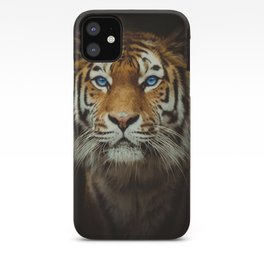Wild Tiger with Blue eyes iPhone Case