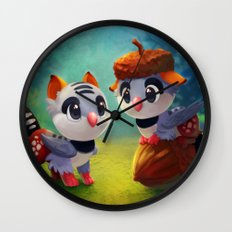 Zebra Finch Griffins Wall Clock