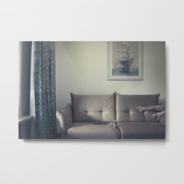 meanwhile, in a small Hotel... Metal Print