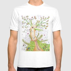 Forest's hear Mens Fitted Tee White MEDIUM
