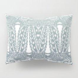 Partridge Pattern - Stormy Sage Pillow Sham