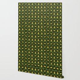 Frogs pattern Wallpaper
