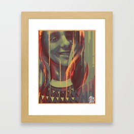 What are you drawing Ryan? // 152 Framed Art Print