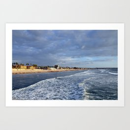 San Diego Pacific Beach just before sunset Art Print