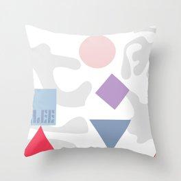 Bauhaus Paul Klee Organic Geometric Art Throw Pillow