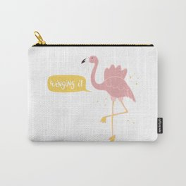 Winging It- Flamingo Carry-All Pouch