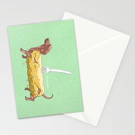 BATTERED SAUSAGE DOG Stationery Cards