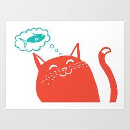 Me Want Fish Art Print