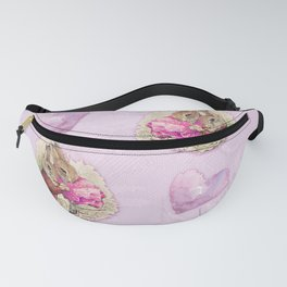 Love Bunnies Beatrix Potter pattern design Fanny Pack