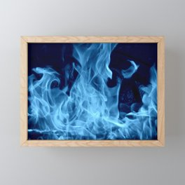 Blue Dragon Fire Framed Mini Art Print