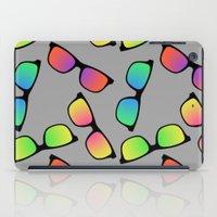 sunglasses iPad Cases featuring Sunglasses Pattern by Karolis Butenas