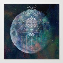 Lunar Goddess Mandala Canvas Print