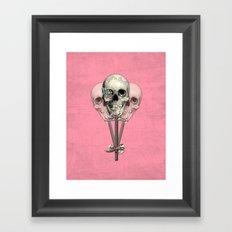 Sweet as Candy, skull lollipops  Framed Art Print