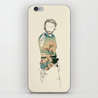 rick grimes iPhone & iPod Skins featuring Rick Grimes by Cassius