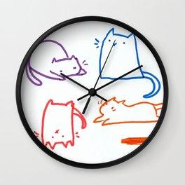 Cats cats cats cats Wall Clock