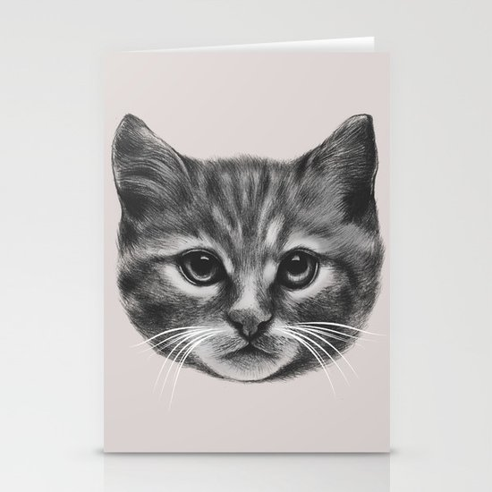 Everybody wants to be a Cat (MONOTONE) Stationery Cards