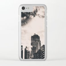 Pike Place Market Dock City Reflection Clear iPhone Case