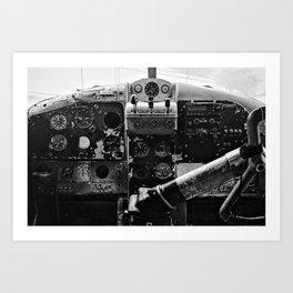 Beaver Cockpit Art Print