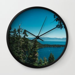 Lake Tahoe III Wall Clock