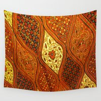 batik Wall Tapestries featuring batik  by customgift
