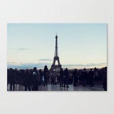 Eiffel by Evening Canvas Print