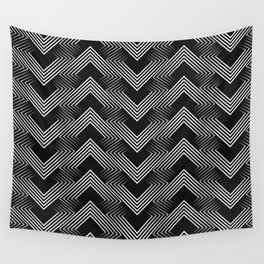 Art Deco . Mountains . Wall Tapestry