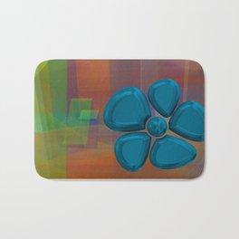flower 5 blue Bath Mat