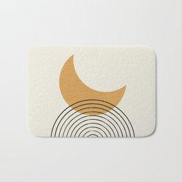 Moon mountain gold - Mid century style Bath Mat