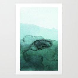 inkblot pastels 2 Art Print