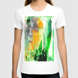 Green abstract nature vibes T-shirt