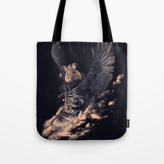 Flying Mouse Tote Bag