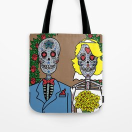 Day of the Dead Bride & Groom Portrait Tote Bag